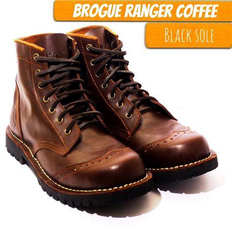 Sepatu Safety W Brown sepatu lokal branded ori sepatu safety jamani footwear