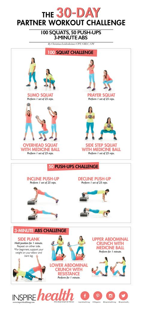the 30 day partner workout challenge inspire health magazine