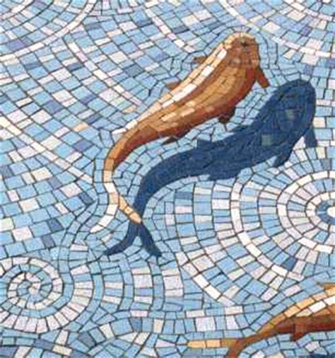 Simple Bathroom Tile Design Ideas by Garden Fishpond Mosaic Croydon