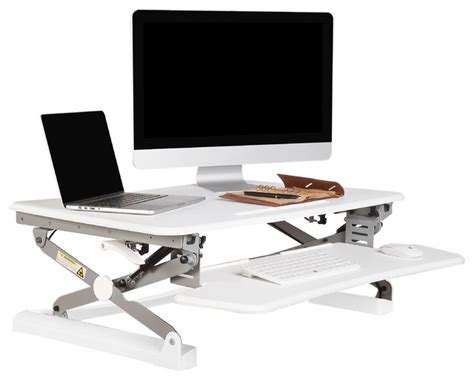 flexispot height adjustable sit stand up desk 35 quot wide