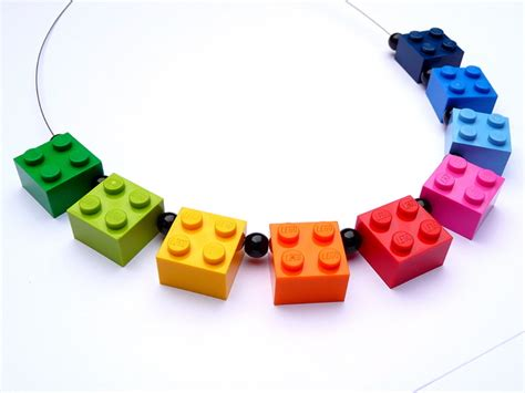 necklaces lego 174 necklace rainbow upcycling