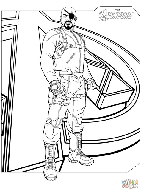 avengers coloring pages loki avengers nick fury coloring page free printable coloring