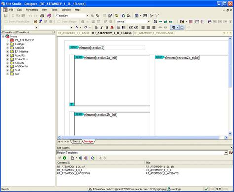 look layout definition oracle webcenter working with site studio 10gr4 placeholders