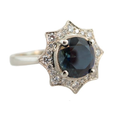 9ct white gold sapphire ring cameron jewellery