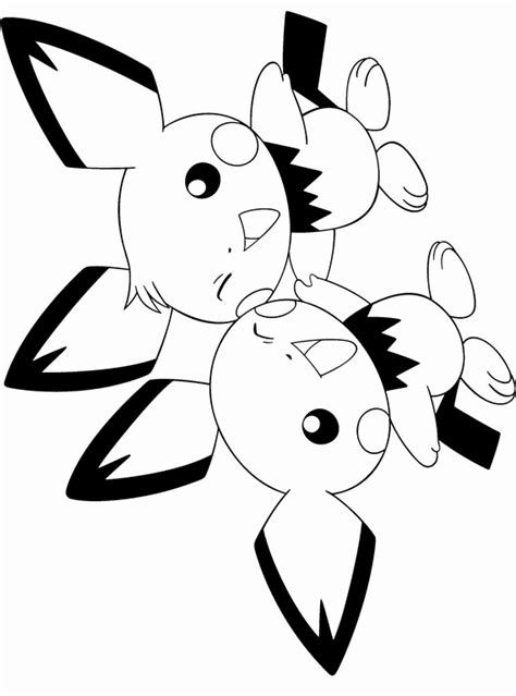pichu coloring coloring pages