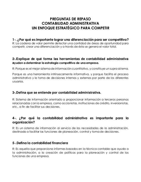 PREGUNTAS DE REPASO - CONTABILIDAD ADMINISTRATIVA UN