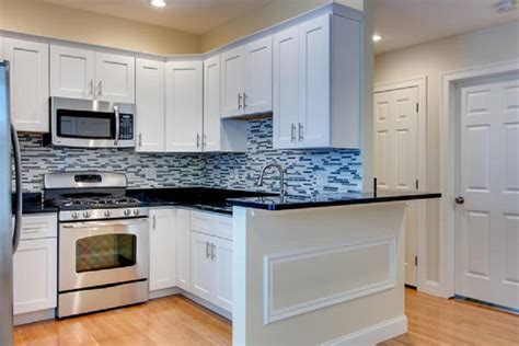 kitchen cabinet gallery kitchen white maple shaker with black granite countertops