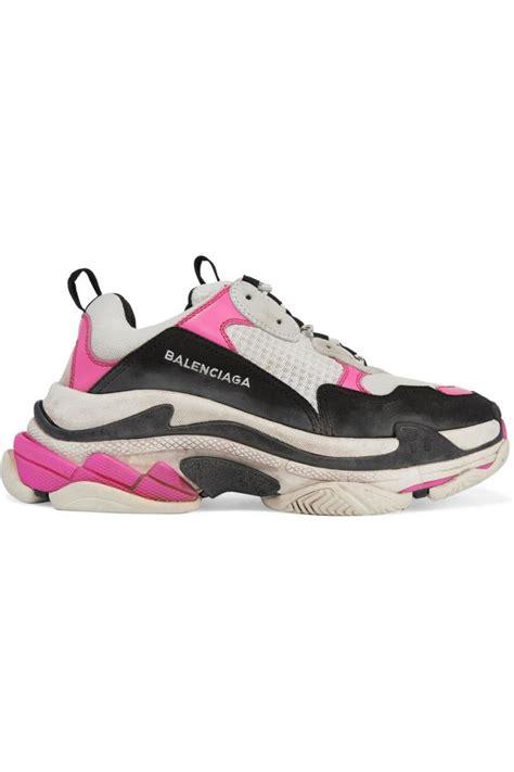 womens balenciaga sneakers s mesh and nubuck sneakers pink pink rosalia fedesa