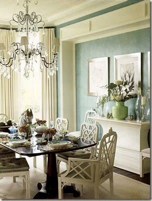 Regency Green Dining Room My Chippendales Got Fancied Up View Along The