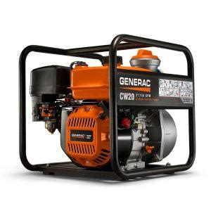 generac 5 hp 2 in gas powered clean water 6918 the
