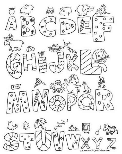 free alphabet coloring pages a z alphabet letters black and white a z graffiti print coloring