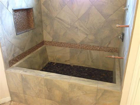 how to make a tile bathtub custom tile bathtub google search bathroom pinterest