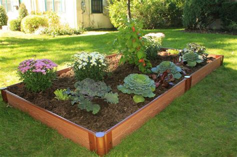 menards raised garden bed frame it all 4 x 8 raised garden bed 1 quot series at menards 174