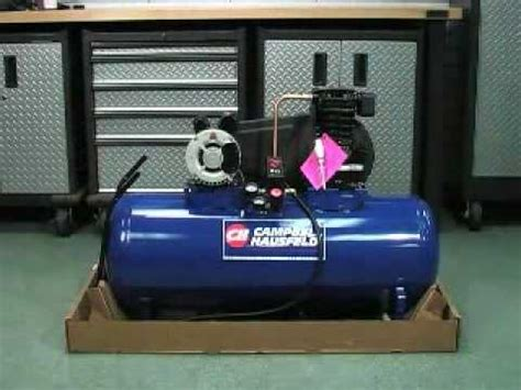 campbell hausfeld air compressor unboxing youtube