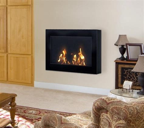Wall Mounted Indoor Fireplace by Soho Black Indoor Wall Mounted Biofuel Fireplace Indoor Fireplaces Portland