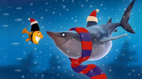 baby shark christmas cartoon shark fish pictures hd wallpaper of cartoon