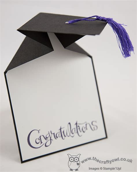 the crafty owl graduation mortar board card