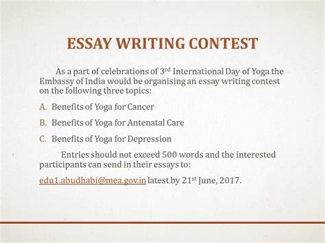 Essay Writing Contests by Mea Indian Missions Abroad Indian Mission