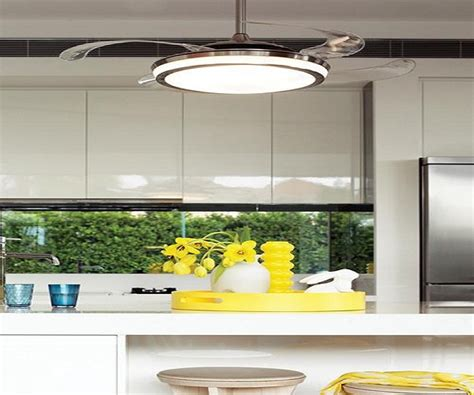 kitchen ceiling fans with bright lights accessories retractable blade ceiling fan with light in