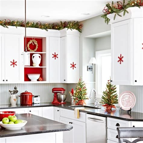 white kitchen decor ideas red and white scandinavian christmas town country living