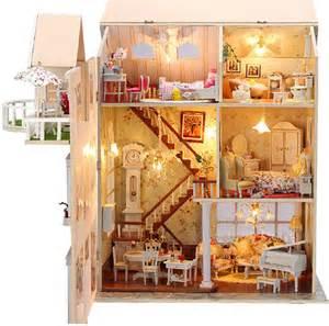 Dollhouse Handmade - doll house with wooden handmade dollhouse miniature diy