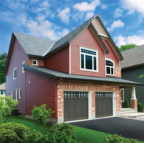 red siding house venetian red vinyl siding with snow white trim and brown door siding vinyl siding
