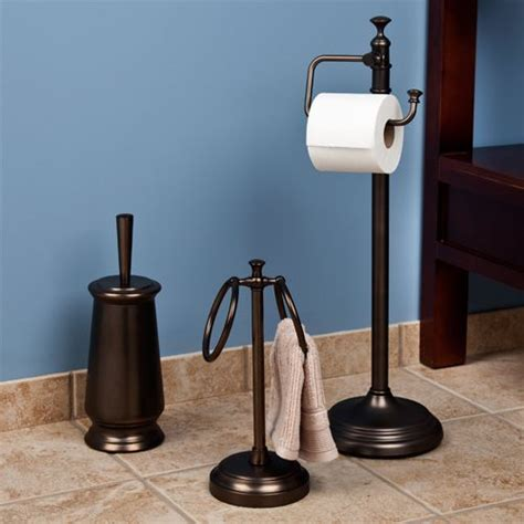 Freestanding Bathroom Accessories Mercer Bathroom Set With Towel Bar Towel Holders Bathroom Sets And Bathroom Accessories