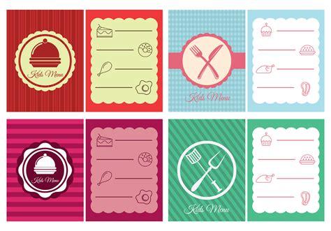 menu design resources kids menu design download free vector art stock