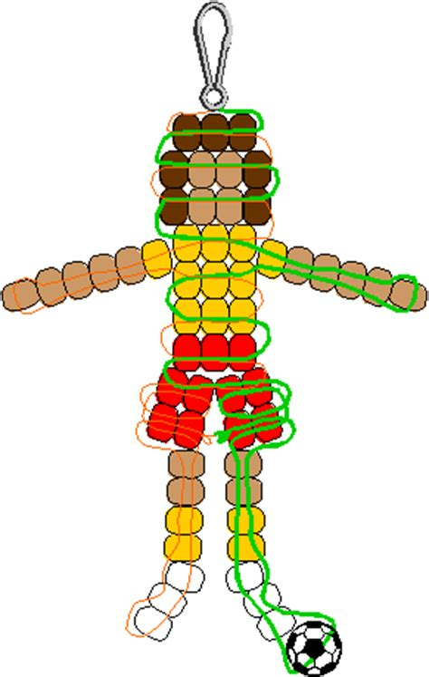 pony bead craft patterns soccerplayer