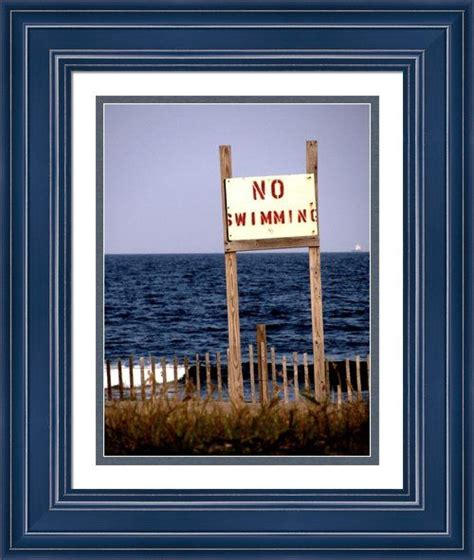 Framing Prints Without Mats by Quot No Swimming Quot Framed Print By Colleen Kammerer Choose