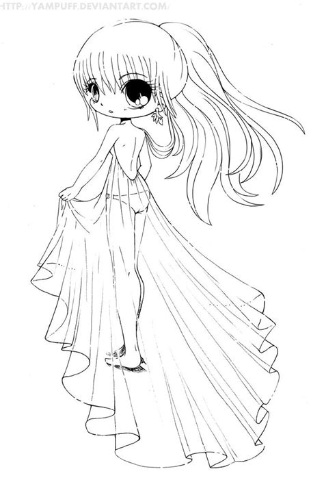 chibi coloring pages for adults http solude deviantart com art diana chibi lineart