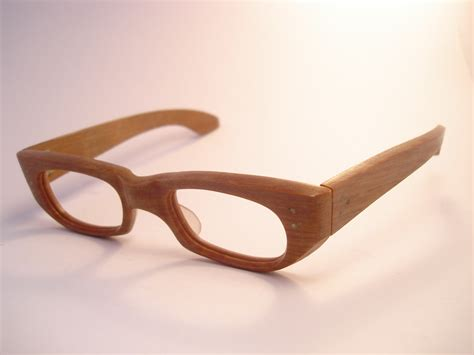 Handmade Spectacles - theothersideofthepillow vintage 1950 s wood effect