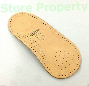 tacco 676 3 4 orthotic arch support leather insoles dress shoe inserts new