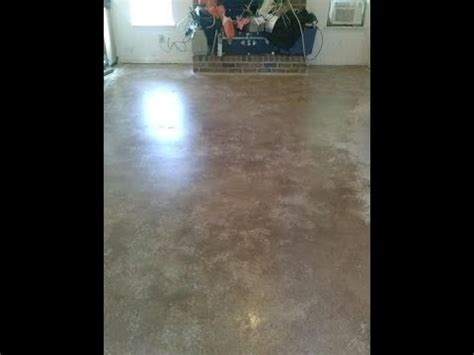 Den floor gets a makeover. Painted concrete floor!!   YouTube