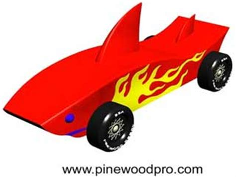 pinewood derby shark template car designer with speed simulator