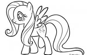 my little pony coloring pages fluttershy i love
