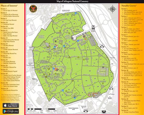 Printable Map Of Arlington arlington national cemetery map