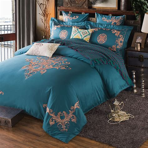 King Size Bedding Set 6 Keluo Cotton Embroidery Palace Royal Luxury Bedding Set 4 6 Pcs King Size Hotel Bed