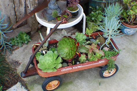 Wagon Flower Planter by Repurpose How Does Your Garden Grow In That The