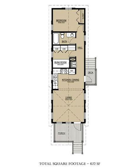 Modern Shotgun House by 7 Ideal Small House Floor Plans Under 1 000 Square Feet