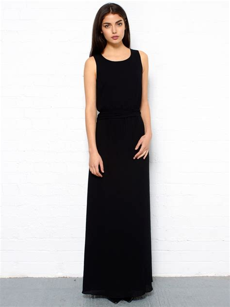 Maxi Black A black high low maxi dress dresses trend