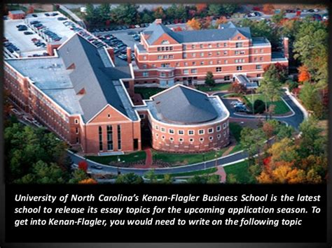 Unc Mba Admissions by Unc Kenan Flagler Releases Mba Application Essay Topics