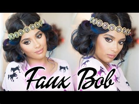 great gatsby faux bob 1920s inspired hair youtube gatsby inspired faux bob hair tutorial youtube