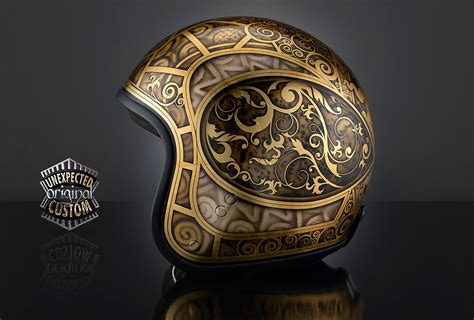 design helm airbrush custom motorcycle helmet jugenstil 3 premier vintage