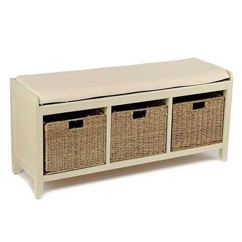 kirklands storage bench cream 3 basket storage bench kirklands