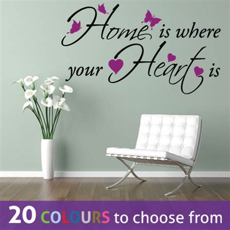 Family Tree Sticker For Wall home is where your heart quote word family wall art