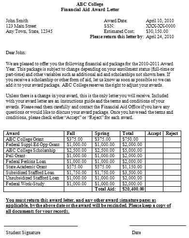 Acceptance Letter For Financial Aid free sle letters asking for financial assistance
