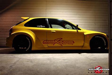 wide body honda civic type   mm honda racing  perfection art  gears