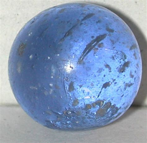 Antique Handmade Marbles - antique mica flake german marble marbles handmade blue