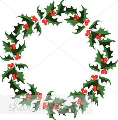 Musical Note Wall Stickers holly wreath image holly clipart